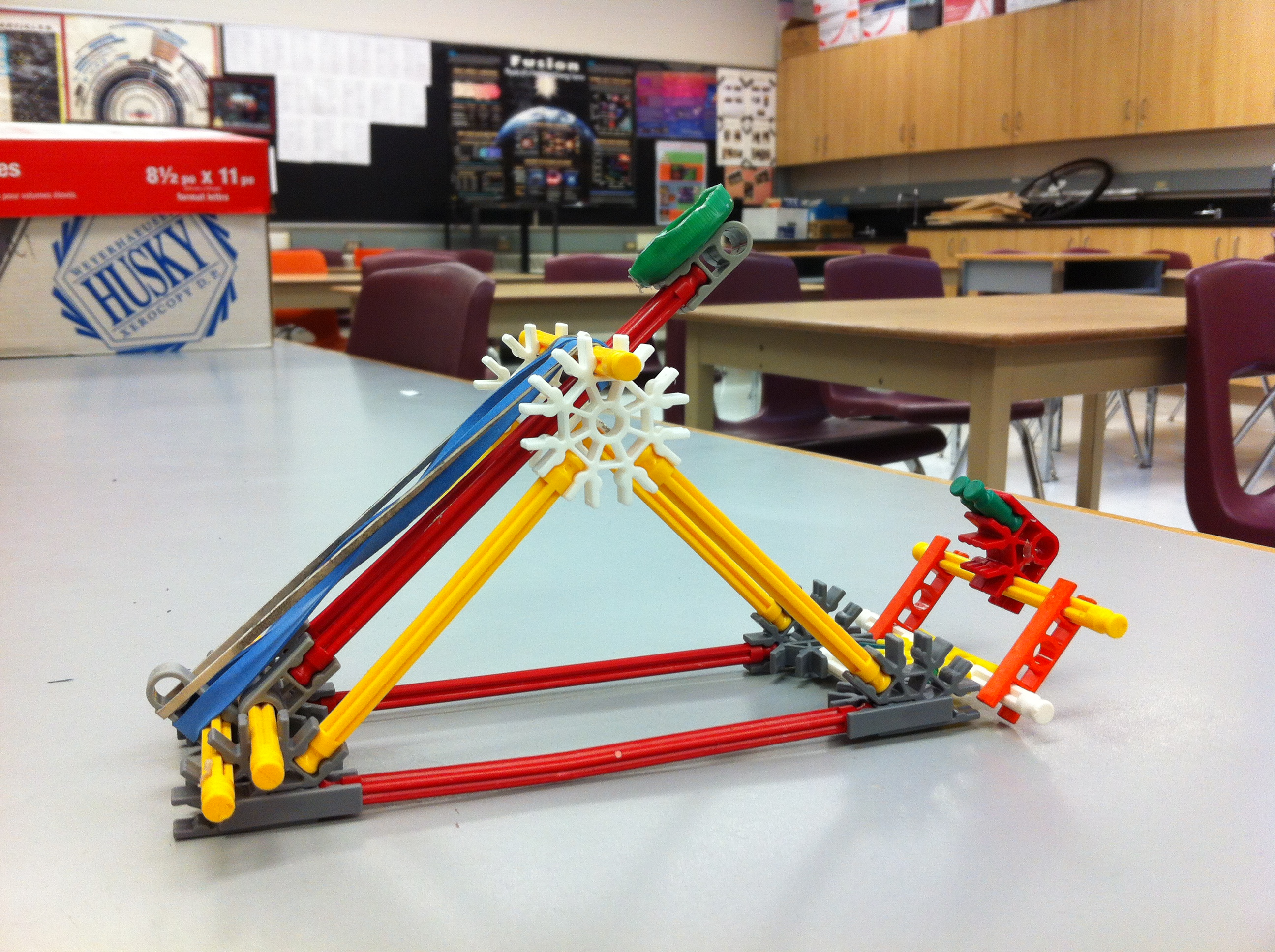 Energy And Motion Connections In A Knex Catapult Articles Oapt Diagram Of I Require Safety Device Latch So The Can Be Loaded Locked Released Upon Request This Also Reduces Likelihood That Student Gives