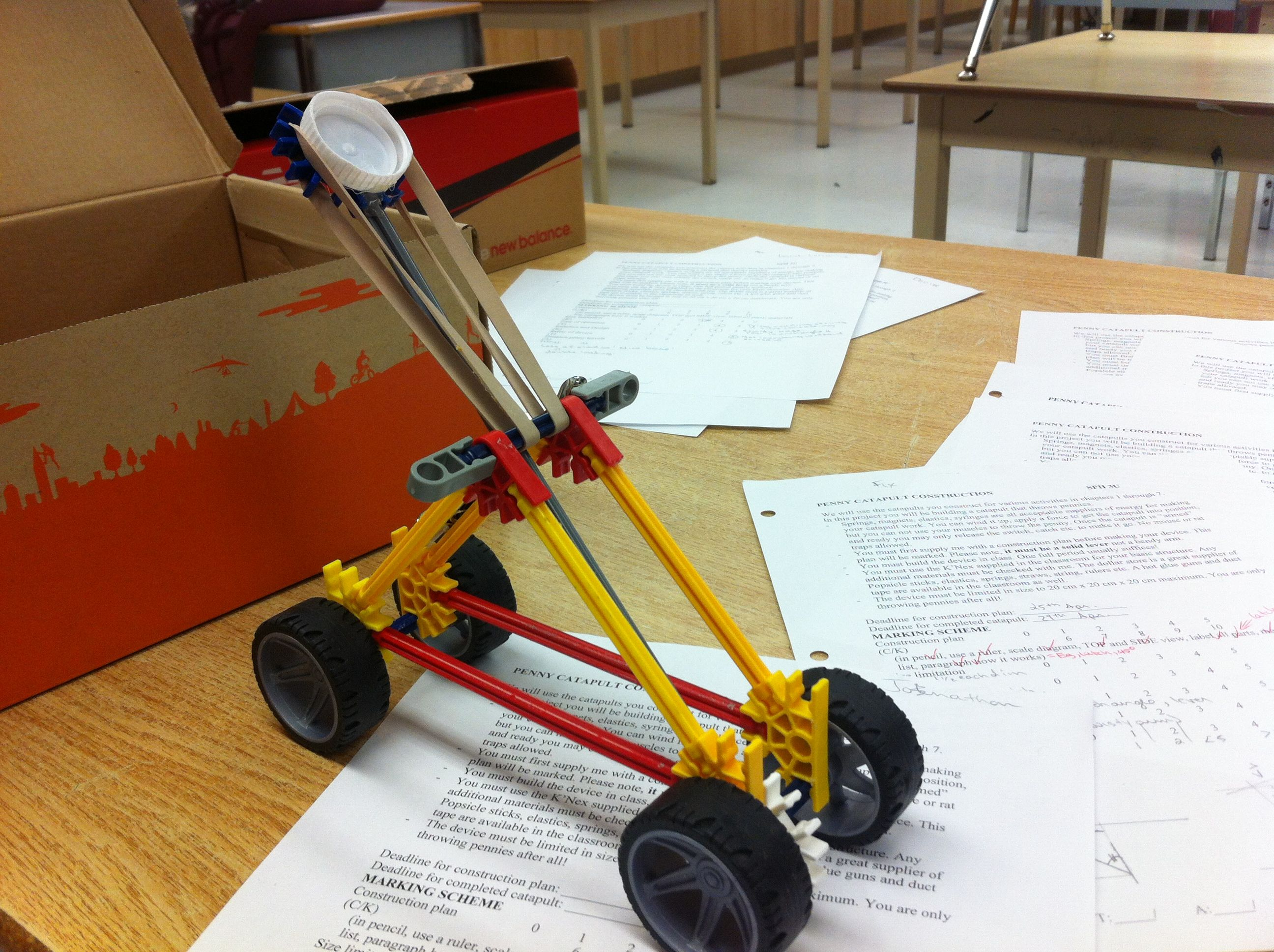 Energy and motion connections in a k nex catapult articles oapt newsletter for Catapult design plans for physics